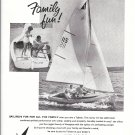 1962 Sailstar Tallstar 14' Sailboat 2 Page Ad- Nice Photo