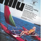 1972 AMF Alcort Hilu Outrigger Color Ad- Nice Photo- Hot Girl
