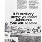 1972 Johnson Outboard Motors 2 Page Ad- Nice Photo of 6 Models