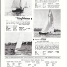 1957 George O'Day Sailboats Ad- Photo & Specs of 3 Models