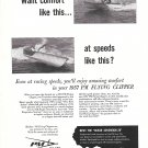 1957 Precision Marine Co Ad- Nice Photos of PM Fling Clipper Boat