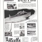 1957 Beetle Boat Co Ad- Photos of 8 Models