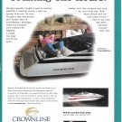 1999 Crownline 248CCR Boat Color Ad- Nice Photo- Fred Kroemer