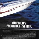 1999 Fountain Lightning 42' Powerboat 2 Page Color Ad- Nice Photo