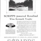 "1929 Scripps Marine Motors Ad- Photo of Yacht ""Rosalind"""