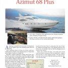 2002 Azimut 68 Plus Yacht Review- Nice Photo & Specs