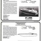 1985 Formula 28 & Fountain 29 New Boats Reviews- Photo-Drawing & Specs