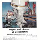 1963 Johnson Sea- Horse 75 HP Outboard Motor Color Ad- Nice Photo