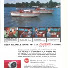 1961 Owens Yachts Color Ad- Nice Photo 29' & 35' Models