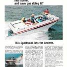 Old Evinrude Sportsman 16' Boat Color Ad- Nice Photo