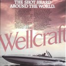 1985 Wellcraft Marine 30' Excalibur Boat Color Ad- Nice Photo