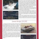 2001 Stingray 200MS & Larson 234 New Boats Color Ad- Specs & Photos