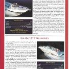 2001 Sea Ray 340 & 245 New Boats Color Ad- Photos & Specs