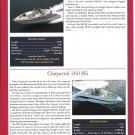 2001 Crownline 288 BR & Chaparal 260 SSi New Boats Ad- Specs & Photo