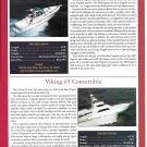 2001 Pursuit 3000 & Viking 65 New Boats Ad- Specs & Photo