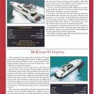 2001 McKinna 65 Pilothouse & 60 Express New Boats Ad- Specs & Photo
