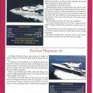 2001 Fairline Squadron 55 & Phantom 46 New Boats Ad- Specs & Photo