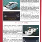 2001 Glacier Bay 2690 & Pro- Line 26 New Boats Ad- Specs & Photo