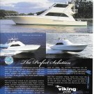 2001 Viking Yachts Color Ad- Nice Photo of 65'- 55 & 61'