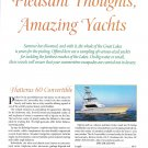 1998 Hatteras 60 Convertible Yacht Color Ad- Specs & Photo