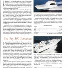 1998 Viking 55 & Sea Ray 500 New Yachts Color Ad- Specs & Photo
