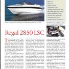 1998 Regal 2850 LSC Boat Review- Nice Photo & Specs