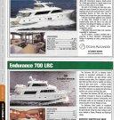 2012 Ocean Alexander 85 & Endurance 700 LRC New Yachts Ad- Photo & Specs