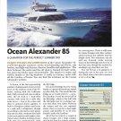 2011 Ocean Alexander 85 Yacht Review- Nice Photo & Specs
