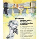1974 Evinrude V-4 Outboard Motor Color Ad- Nice Drawing