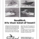 1974 SeaBird Boats Ad- Photo of 4 Models