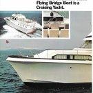 1974 Concorde 41' Double Cabin Flying Bridge Boat 2 Page Color Ad- Nice Photos