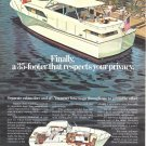 1972 Chris- Craft 35' Commander Yacht Color Ad- Nice Drawing