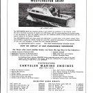 1960 Shongut Boat & Engine CenterAd- Photo of Westchester 32' Skiff