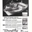 1960 Dunphy Boat Corp. Ad- Drawing and Photos of Models