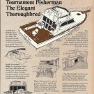 1978 Egg Harbor 36 Tournament Fisherman Yacht 2 Pg Ad- Drawing