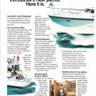 1973 Hatteras 48' Yacht Fisherman Boat 2 Page Color Ad- Nice Photos