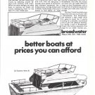 1972 Broadwater 32' Explorer Mark III Boat Ad- Drawing