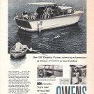 1959 Owens 35' Flagship Cruiser Boat Ad- Nice Photo
