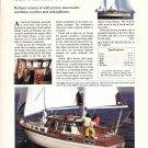1982 Nauticat 38 Yacht Color Ad- Nice Photo & Specs