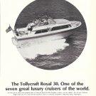 1969 Tollycraft Royal 30 Cruiser Boat Ad- Nice Photo