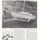 1969 Jensen Marine Cal 21 Sailboat Ad- Nice Photo