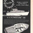 1959 Cruis Along Boats Ad- Drawing of the Custom 31