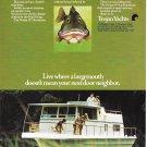 1969 Trojan 34' Houseboat Color Ad- Nice Photo- Hot Girl