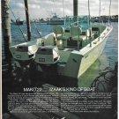 Old Maco Marine Color Ad- Nice Photo of Mako 22 Boat