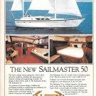 1983 Gulfstar Sailmaster 50 Yacht Color Ad- Nice Photos