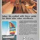 1983 Sabre 28 Yacht Color Ad- Nice Photos