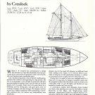 1983 Crealock 83' Cold- Molded Schooner Ad- Specs & Drawings