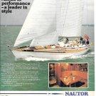 1983 Nautor Swan 51' Yacht Color Ad- Nice Photo
