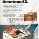 1983 Beneteau 42' Yacht Color Ad- Nice Photo