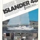 1983 Islander 48 Yacht Color Ad- Nice Photo